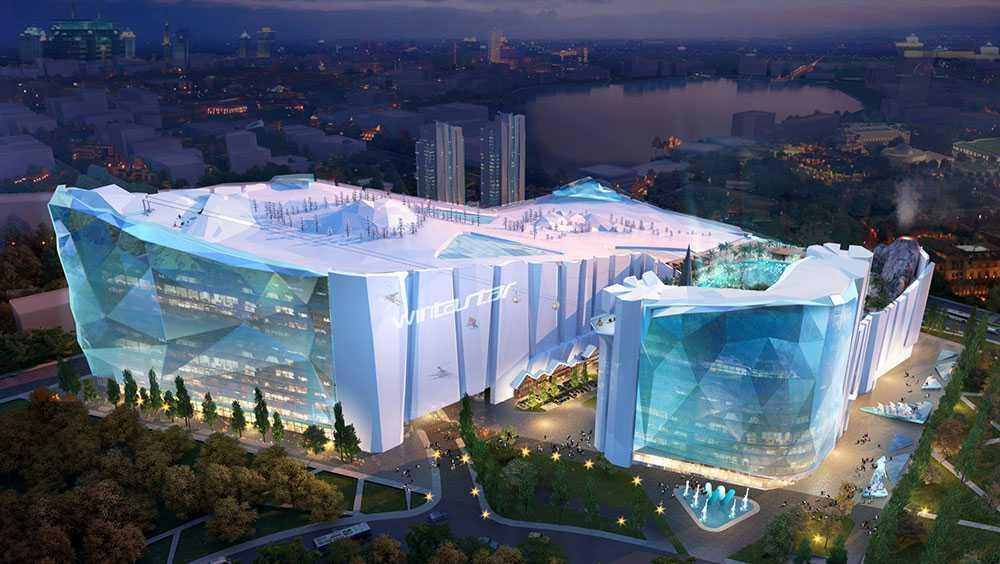 Wintastar Shanghai i Kina kommer att bli världens största skidanläggning inomhus.