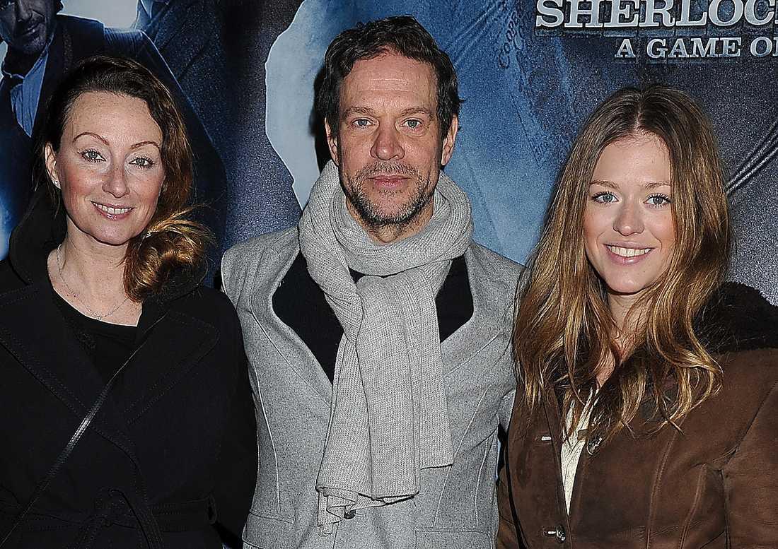 Thomas Hanzon, 49, bildade en trio med sambon Åsa Hultman och dottern Rosanna Endre.