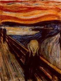 """""""Skriet"""" är en av världens mest berömda målningar."""