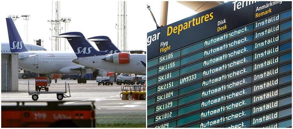 Om parterna inte kommer överens kommer alla SAS-flyg i Sverige, Norge och Danmark att ställas in den 26 spril.
