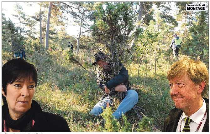Värnar om miljön En man demonstrerar mot kalkbrytning i Ojnareskogen på Gotland. Som miljöministrar borde Sahlin och Andreas Carlgren ha gjort mer för att skydda skogen som frodar ett rikt djur- och växtliv. OBS! Bilden är ett montage!
