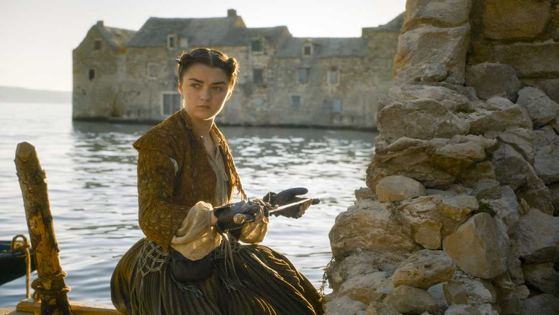 Maisie Williams som Arya Stark.
