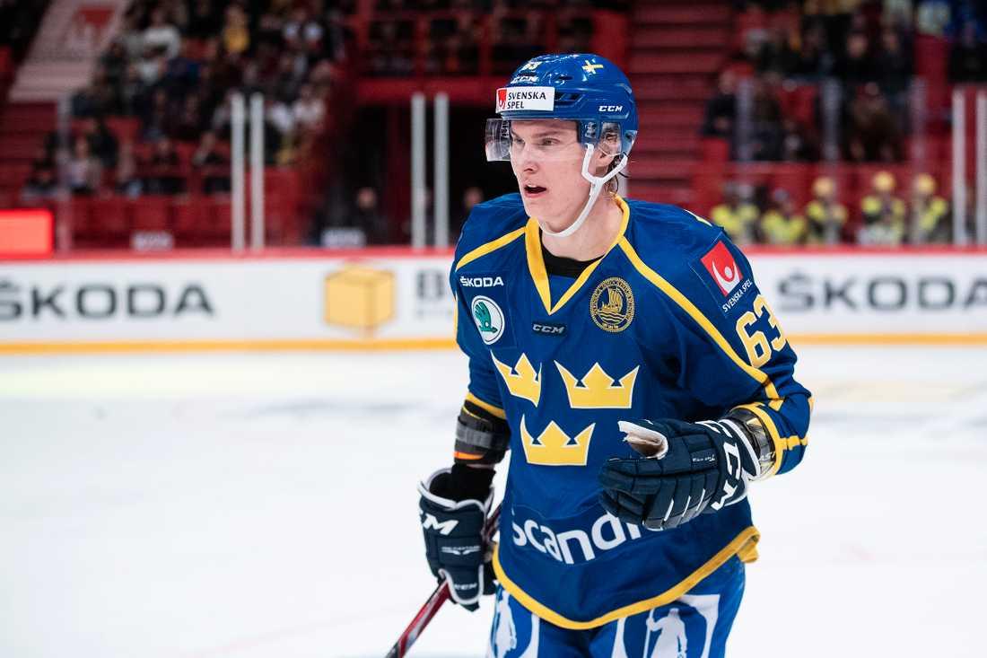 Händemark spelade med Tre Kronor förra helgen.
