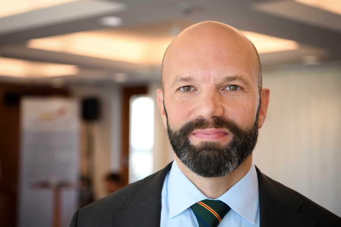 Svenskt Näringslivs förhandlingschef Mattias Dahl. Arkivbild.