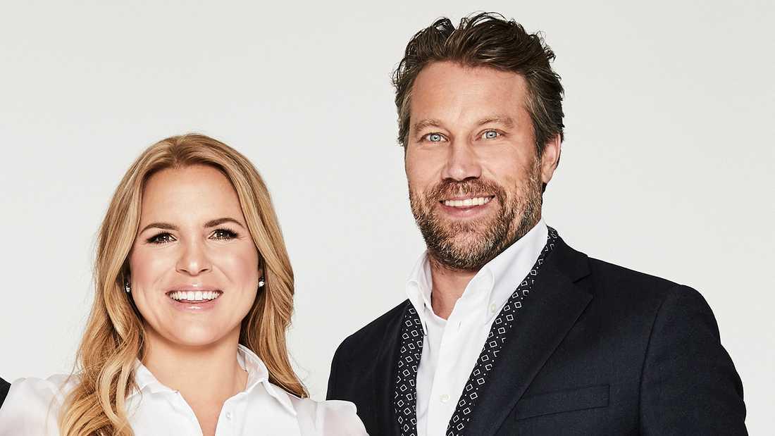 """Anja Pärson och Peter """"Foppa"""" Forsberg."""