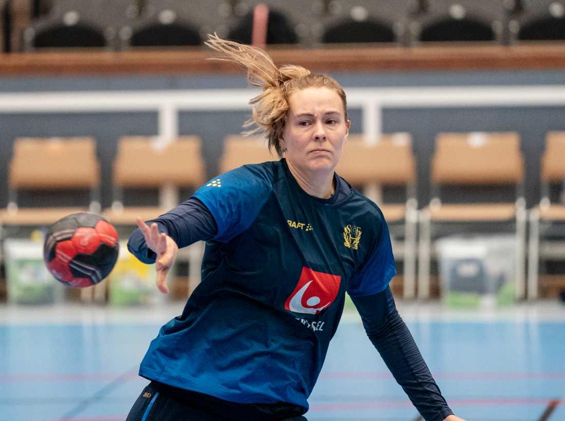Johanna Westberg missar matchen mot Ukraina. Arkivbild.