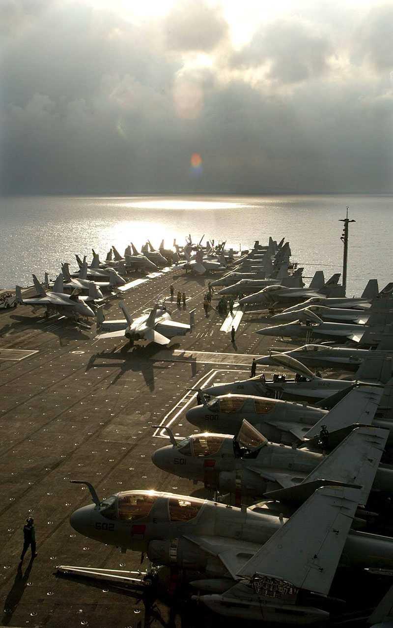 USS Abraham Lincoln.