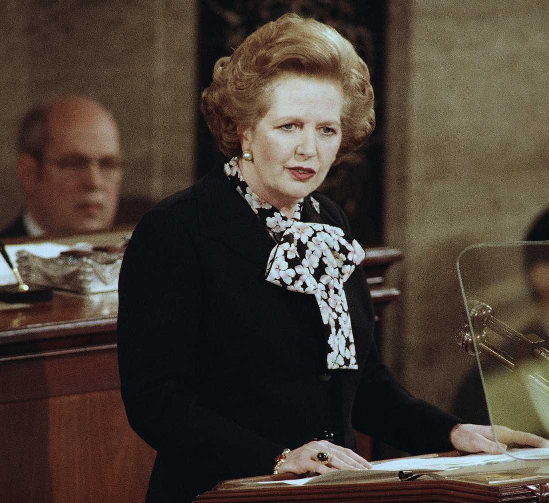 Margaret Thatcher, 1985.