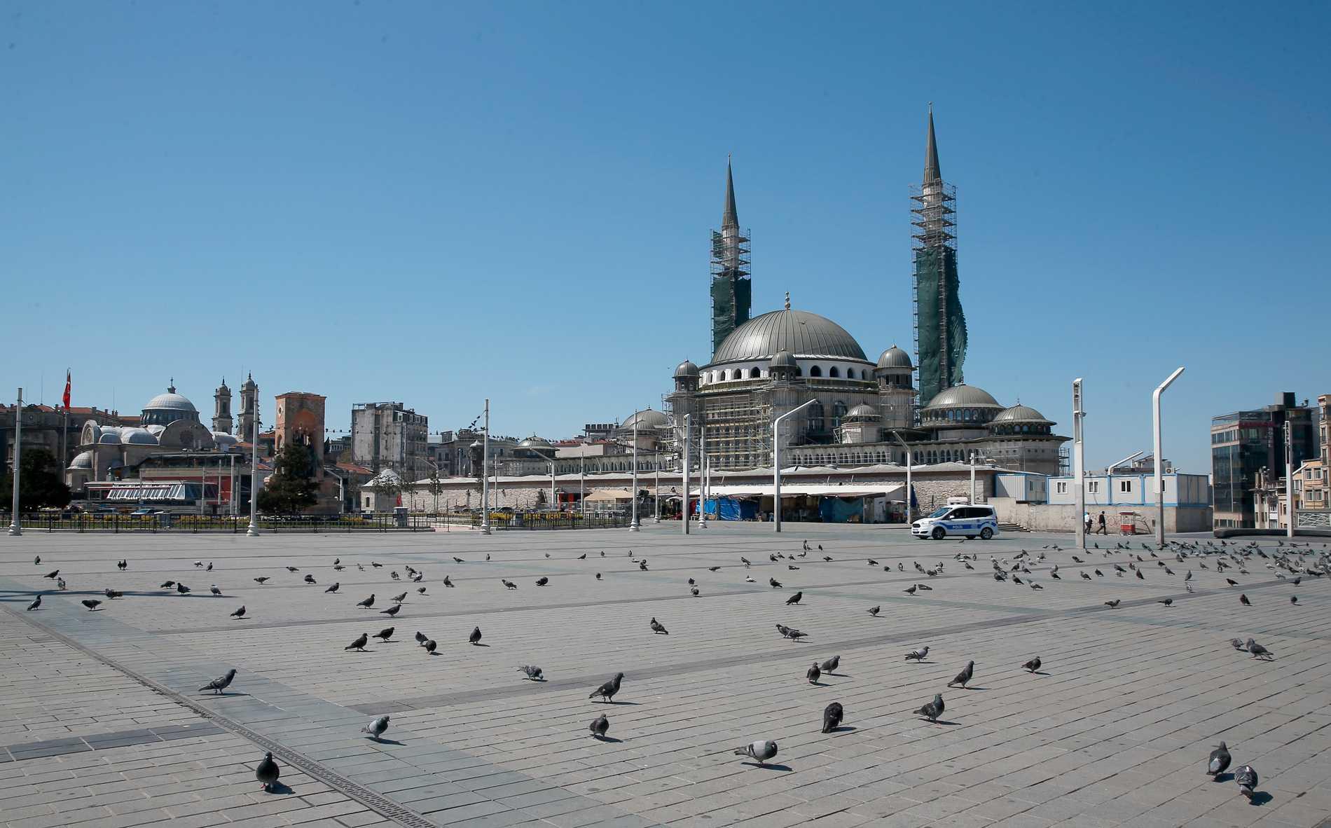 Snabbt stigande virustal i Turkiet