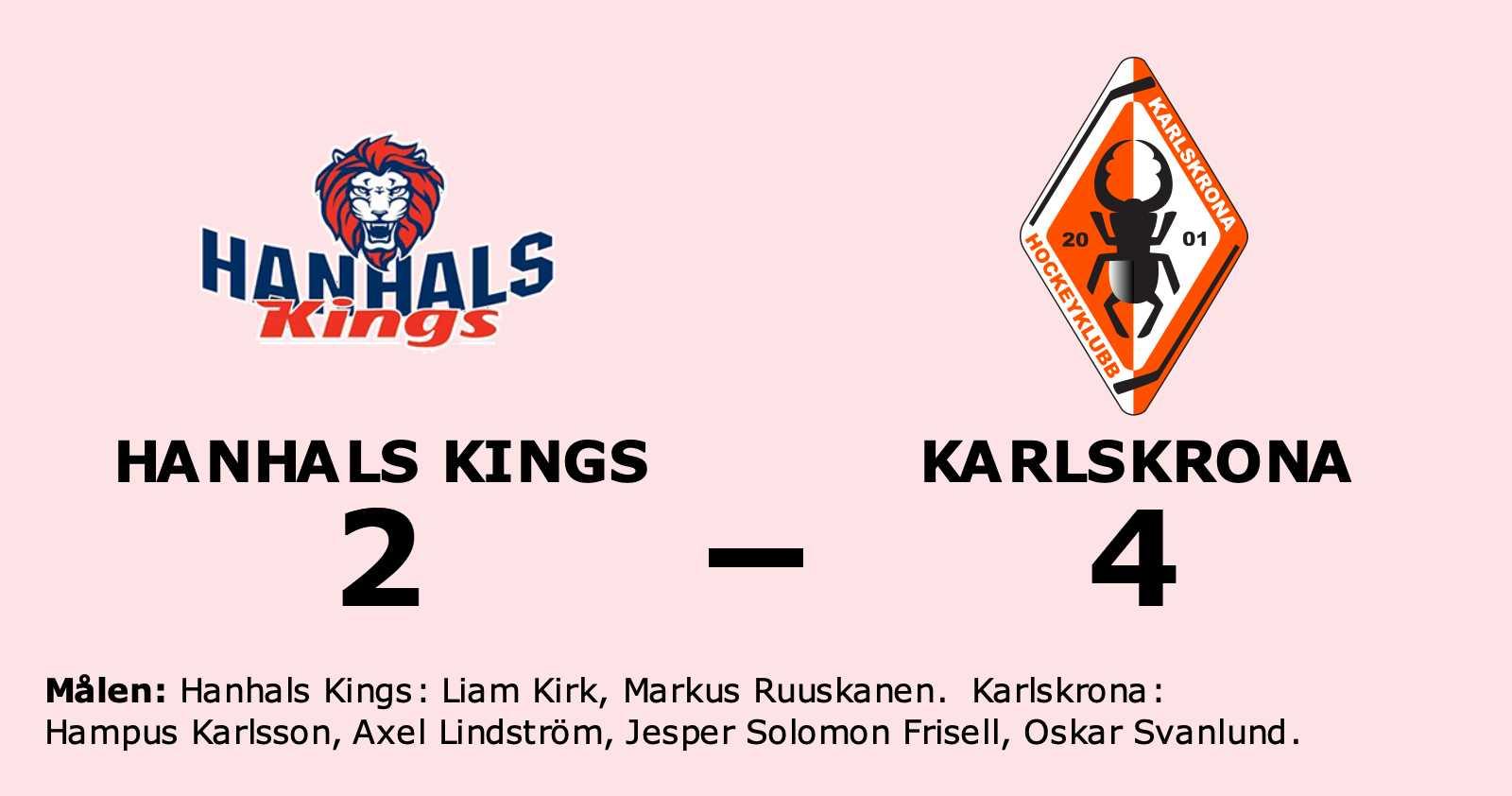 Förlust för Hanhals Kings hemma mot Karlskrona