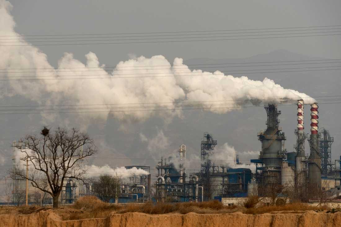Kolkraftverk i kinesiska Shansi-provinsen. (Arkivbild)