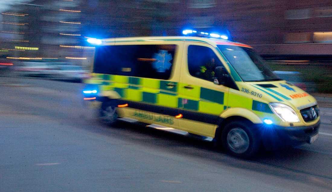 Ambulans skickades ut för sent och mannens liv gick inte att rädda. Bilden är tagen vid ett annat tillfälle.