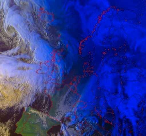 Satellitbild Europa.