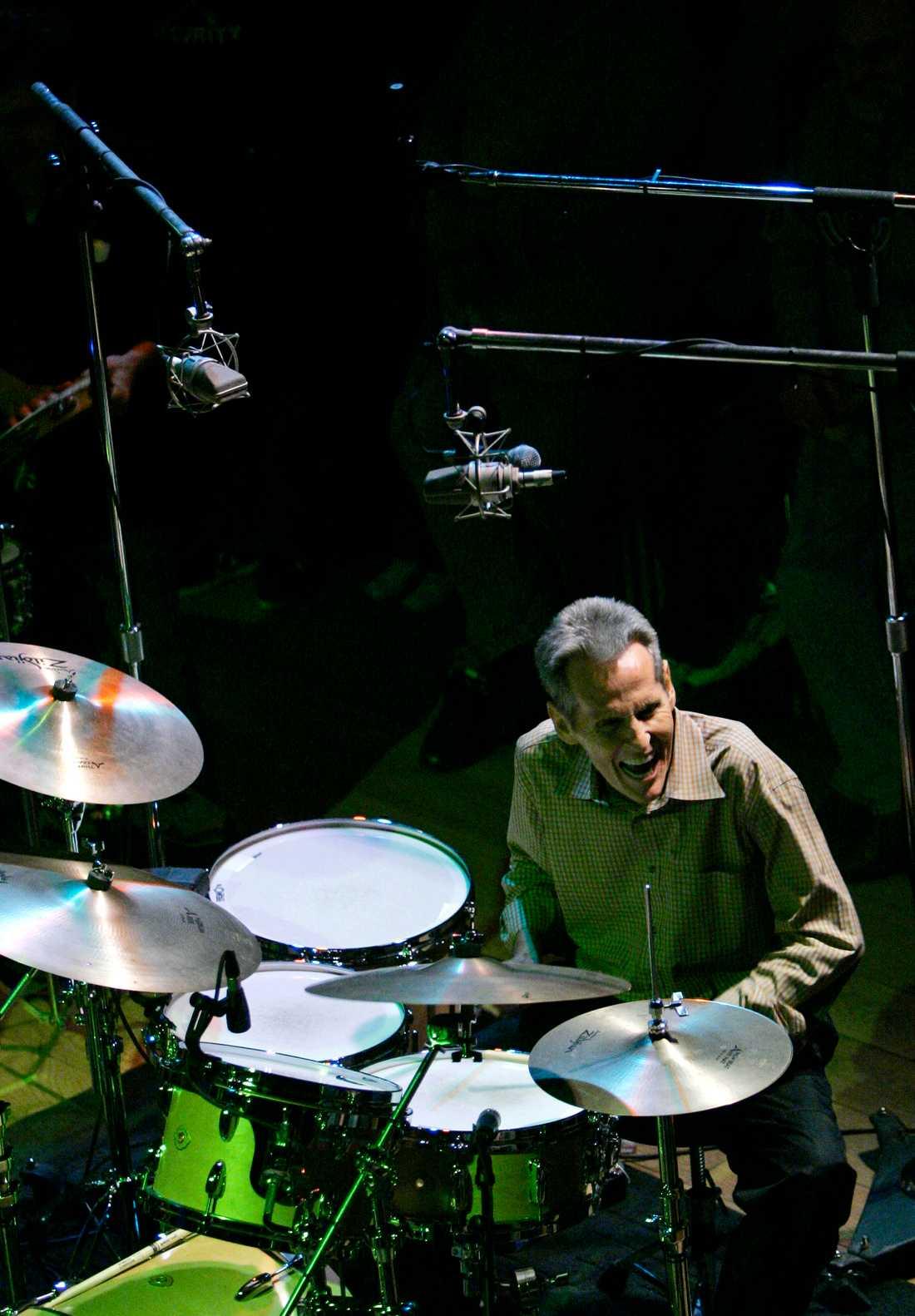 """Levon under en av sina """"Midnight ramble sessions"""" i Woodstock, 2006."""