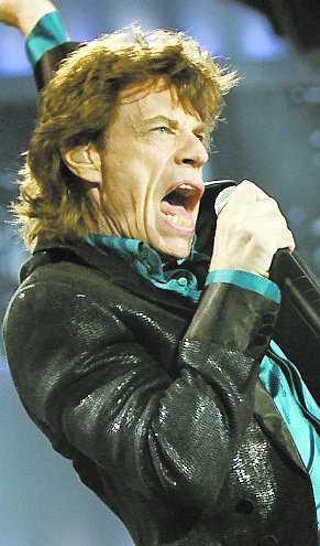 Mick Jagger, sångare i Rolling Stones, uppträder på filmfestivalen i Berlin.