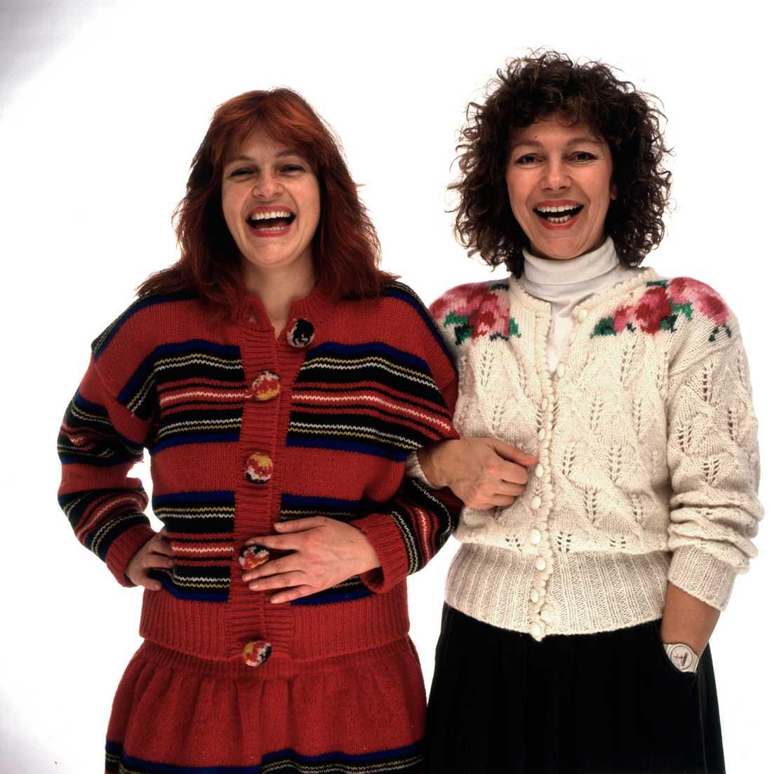 Monica Gunne kom till Aftonbladet 1984 tillsammans med parhästen Amelia Adamo.