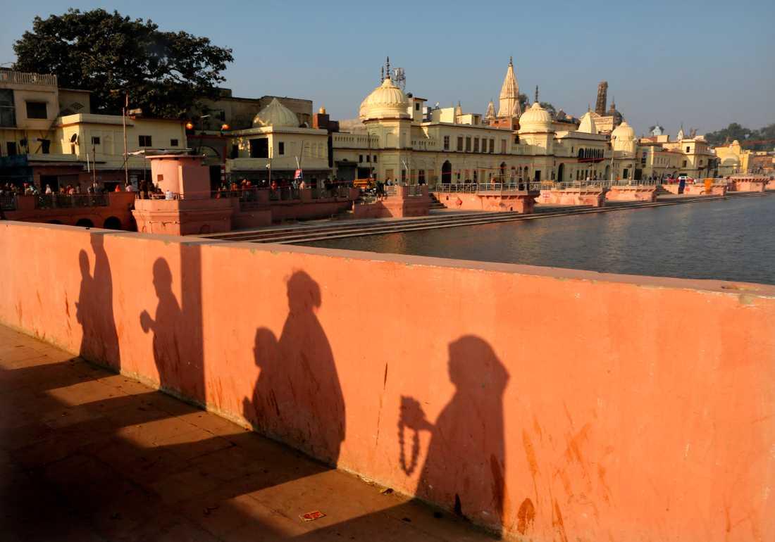 Staden Ayodhya i norra Indien.