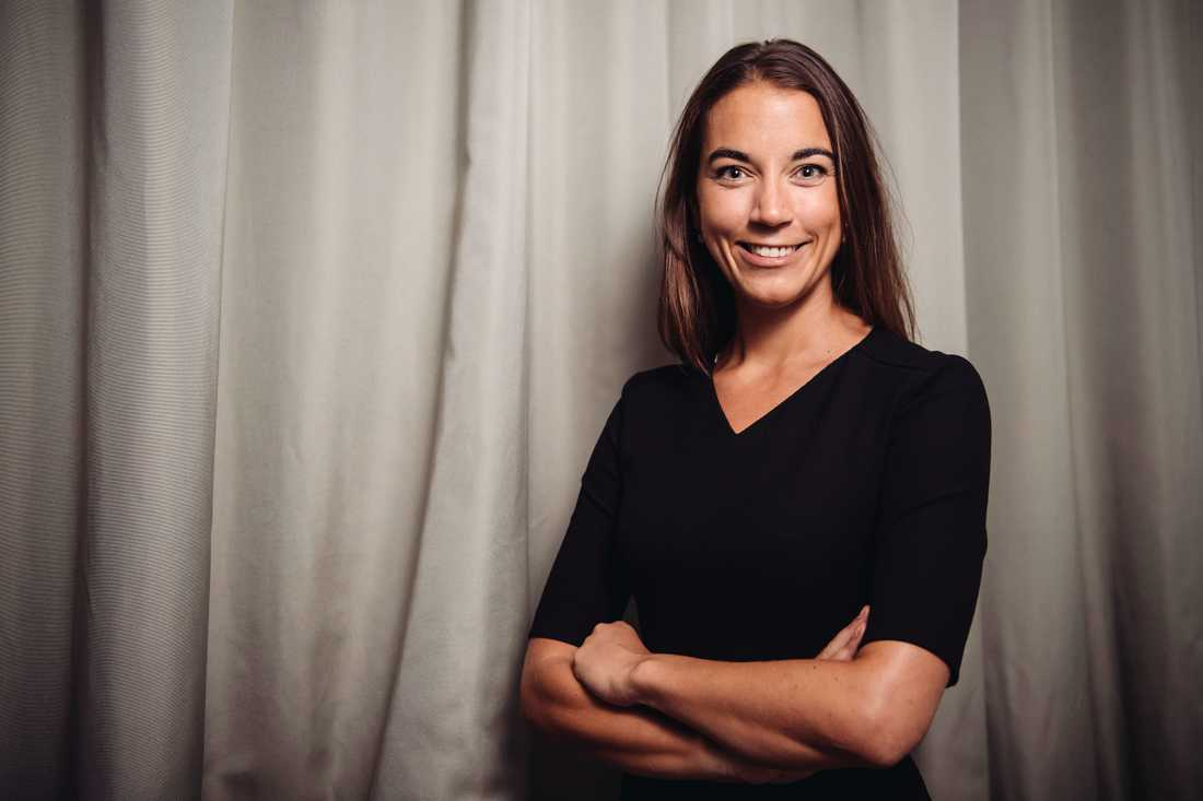 Johanna Kull, sparekonom på Avanza Bank, menar att Teslas kursutveckling inte var hållbar. Arkivbild.