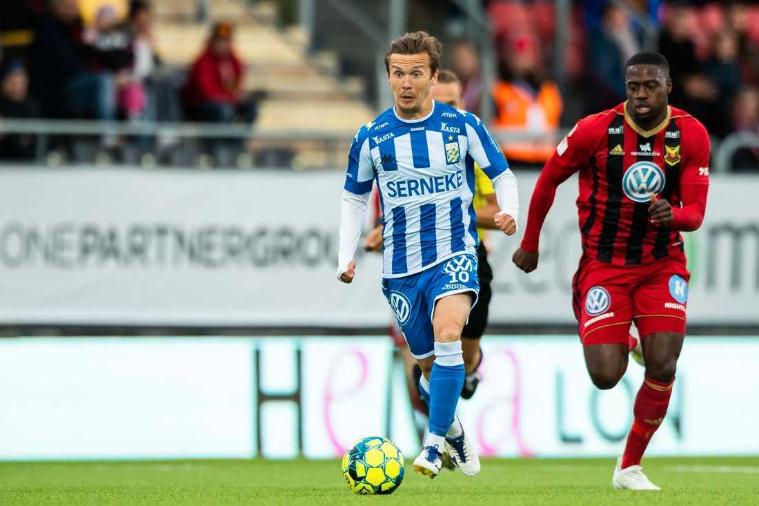 IFK Göteborgs Patrik Karlsson Lagemyr tvingades till byte i mötet mot Östersund.