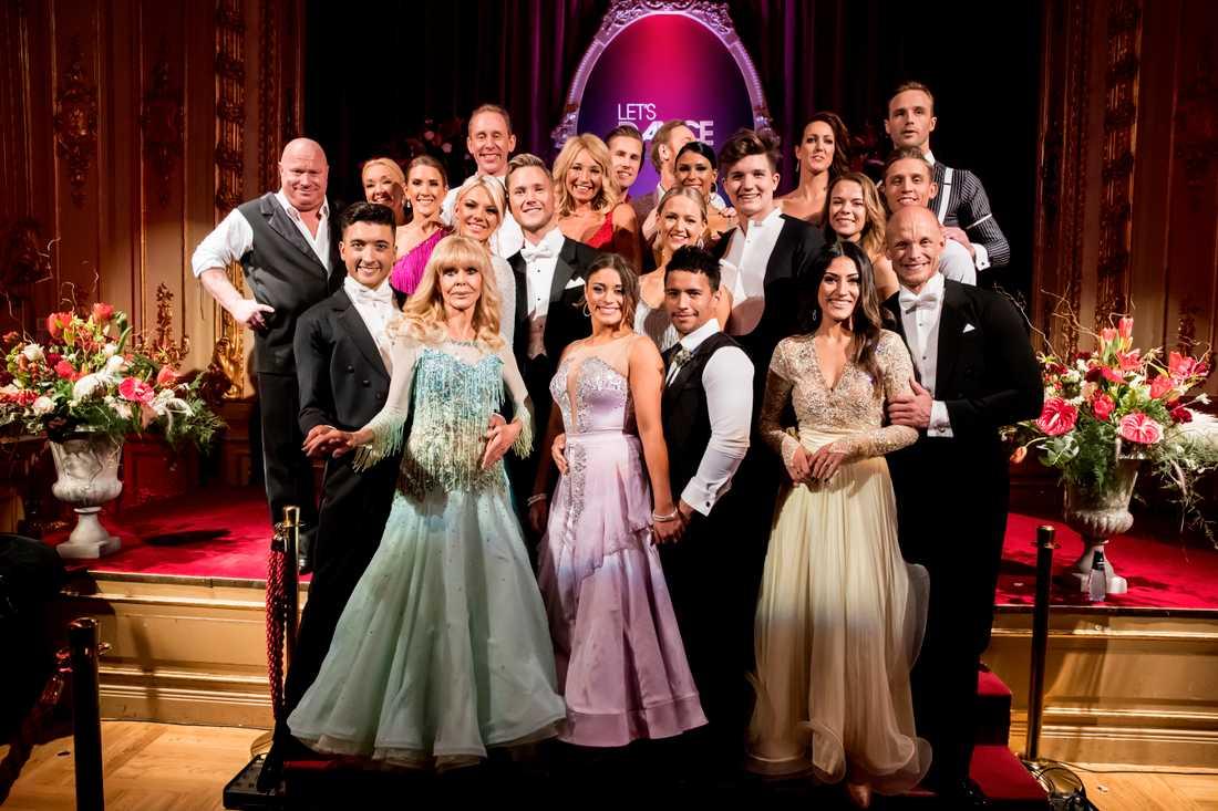 Här är alla deltagare i årets Let's dance.