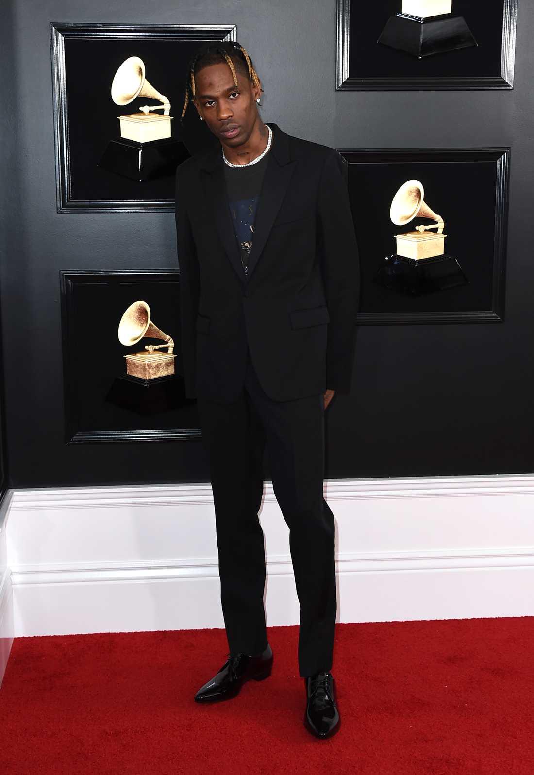 Travis Scott på Grammygalan 2019.