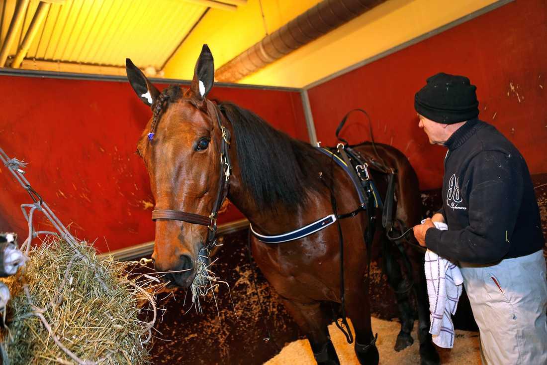 My Angel Laday tillsamans med sin tränare Håkan Berger