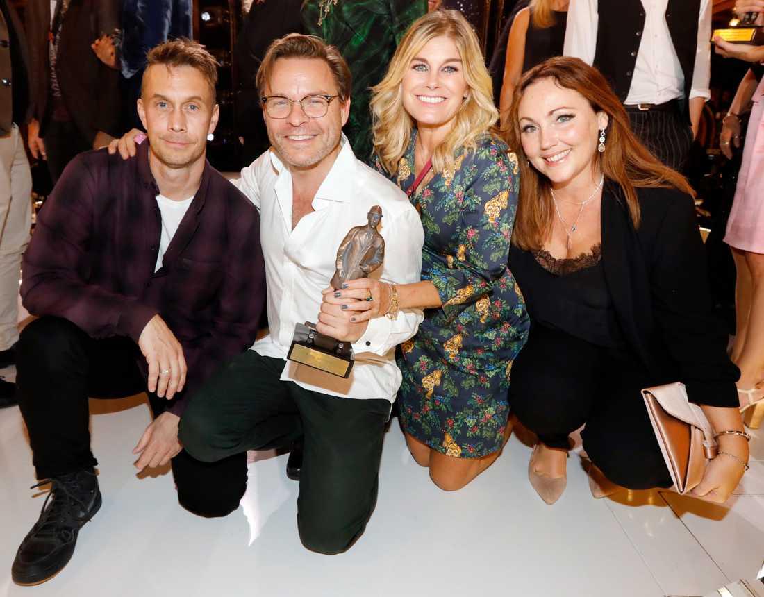 Årets scenshow: Ola Forssmed, Kim Sulocki, Pernilla Wahlgren och Hanna Hedlund - Kort, glad och tacksam Fotograf: Magnus Sandberg