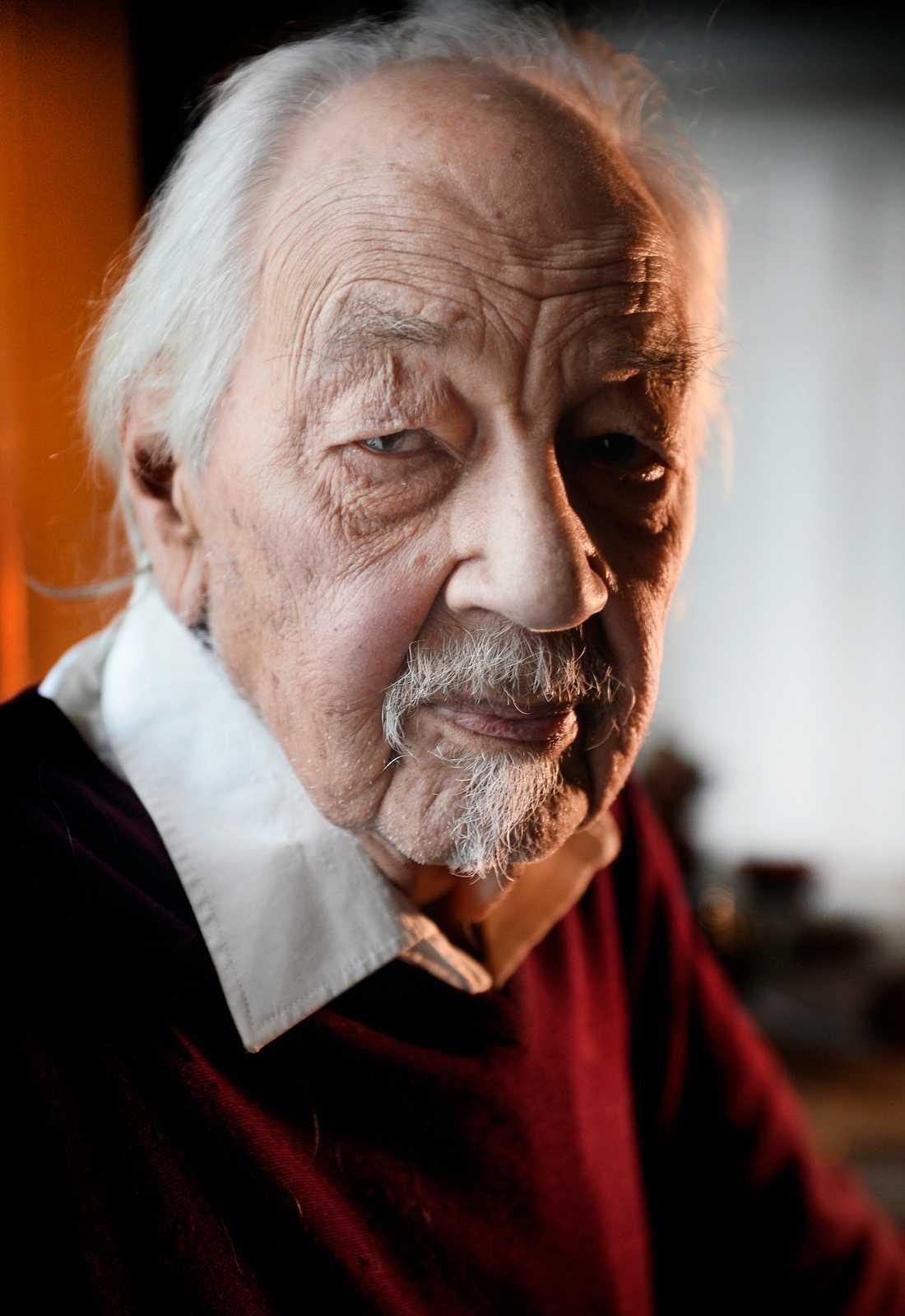 Barnboksförfattaren Lennart Hellsing i december 2014. Foto: STEFAN MATTSSON