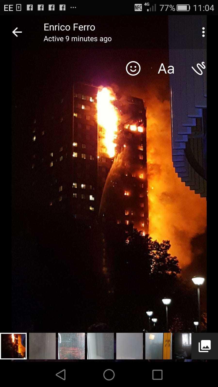 Grenfell tower blev totalförstört. 72 människor dog.