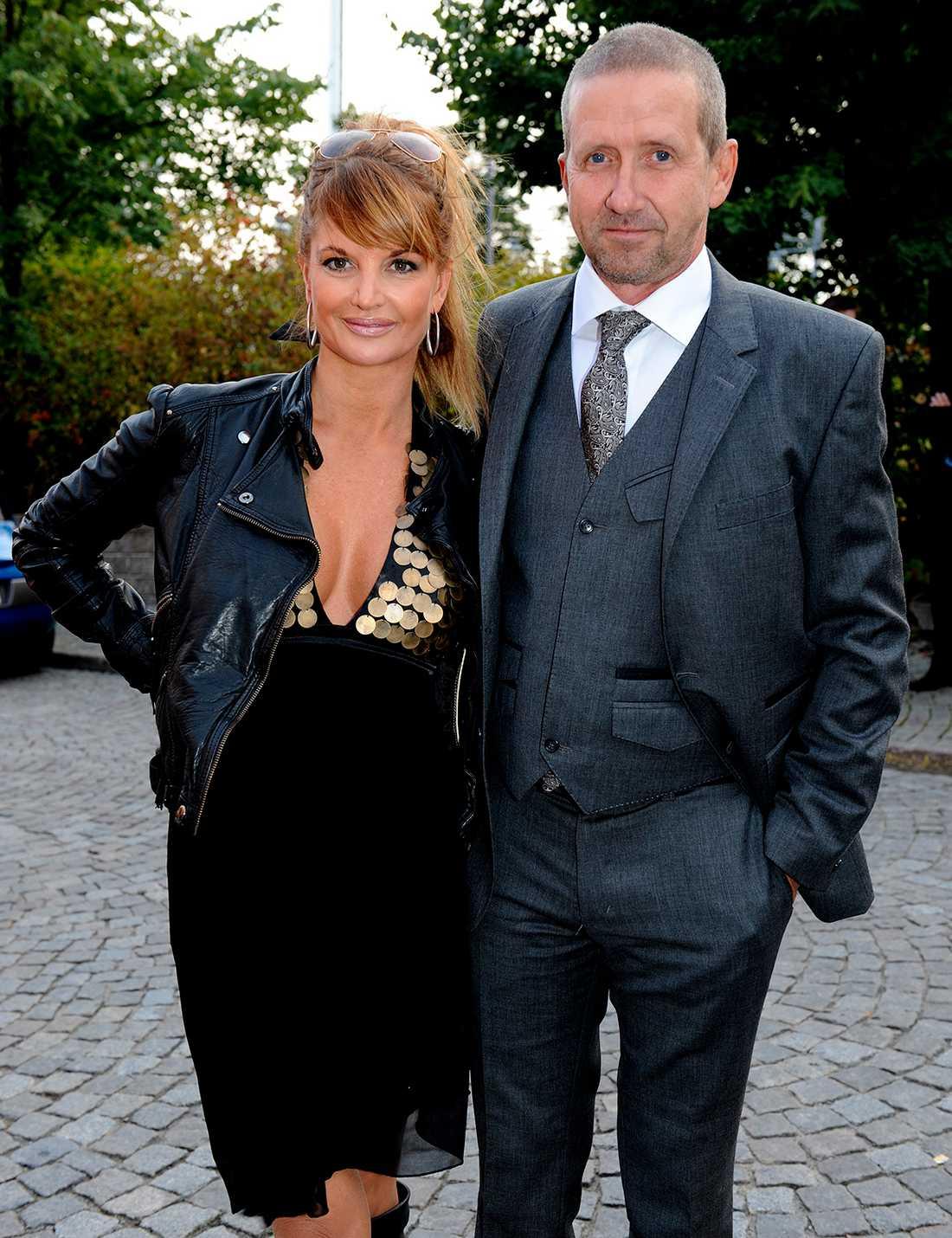 Lulu Carter och Martin Timell på vimmel inför TV4:s höstfest i september 2008.