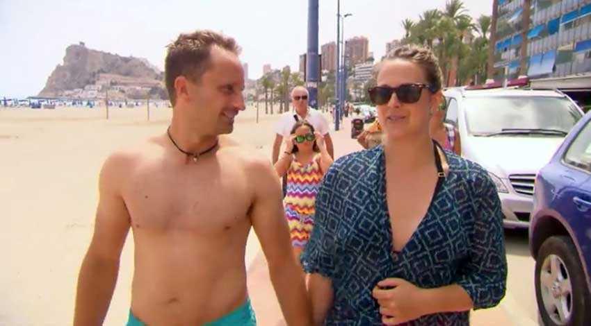 Marcus och Isabell på strandpromenaden.