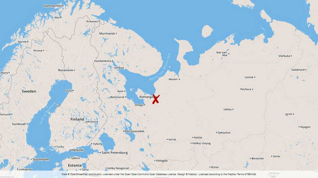Olyckan vid den militära testanläggningen inträffade nära Archangelsk i nordvästra Ryssland.
