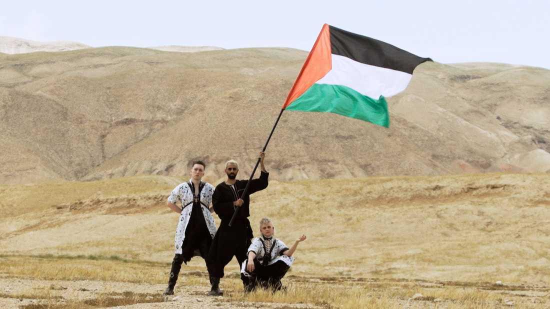 Ur videon till Hataris nya låt med palestinska artisten Bashar Murad.