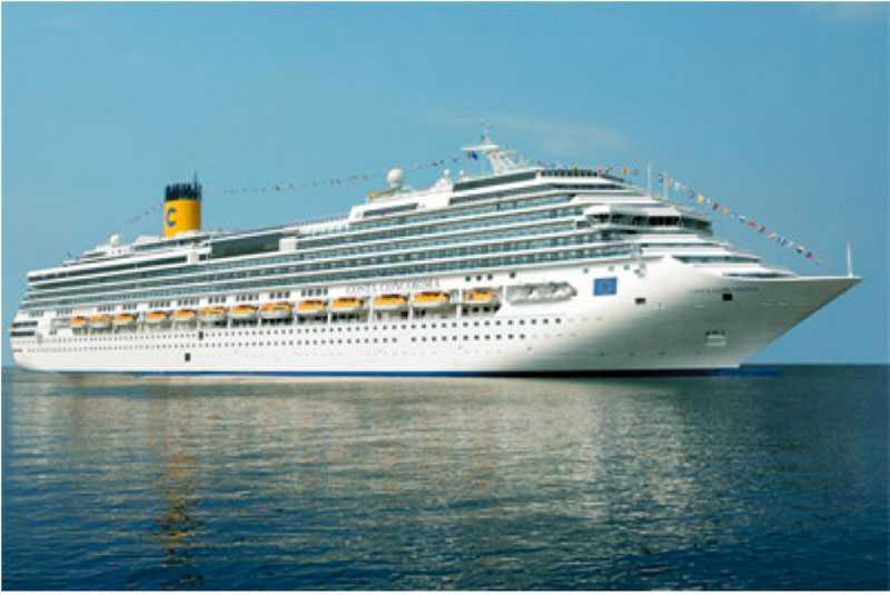 M/S Costa Concordia kryssade utanför Italien när hon gick på grund.