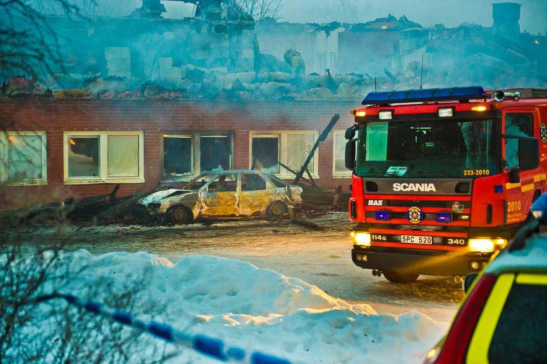Polisen misstänker att bilbranden var anlagd.