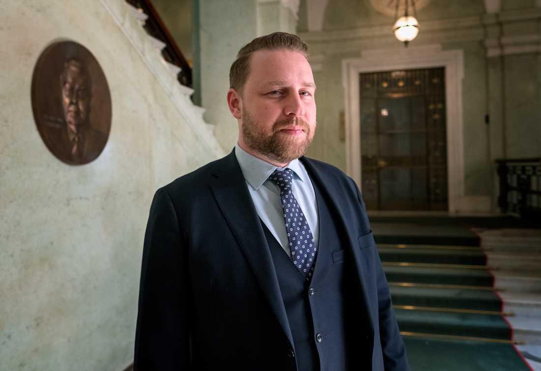 SD:s gruppledare Mattias Karlsson är inte intresserad av att gå med i Salvinis nya grupp.