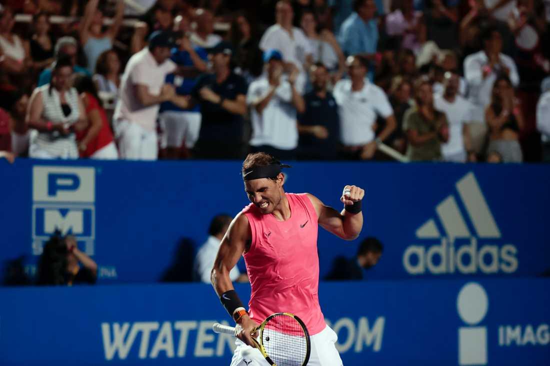 Får vi se Rafael Nadal och de andra tennisstjärnorna spela Wimbledon i sommar? Arkivbild.