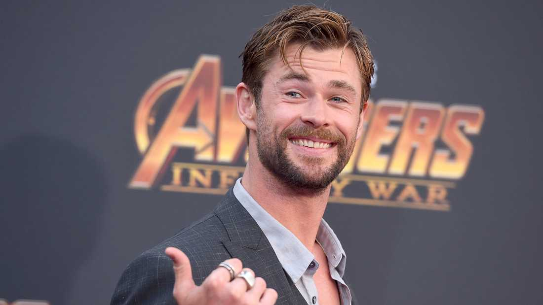 """Avengers""-stjärnan Chris Hemsworth."
