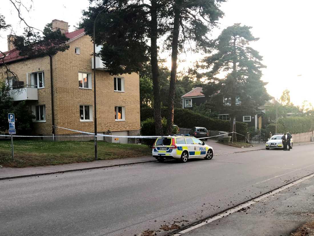 Bostadsområdet i Västerås där söndagens skjutning inträffade.