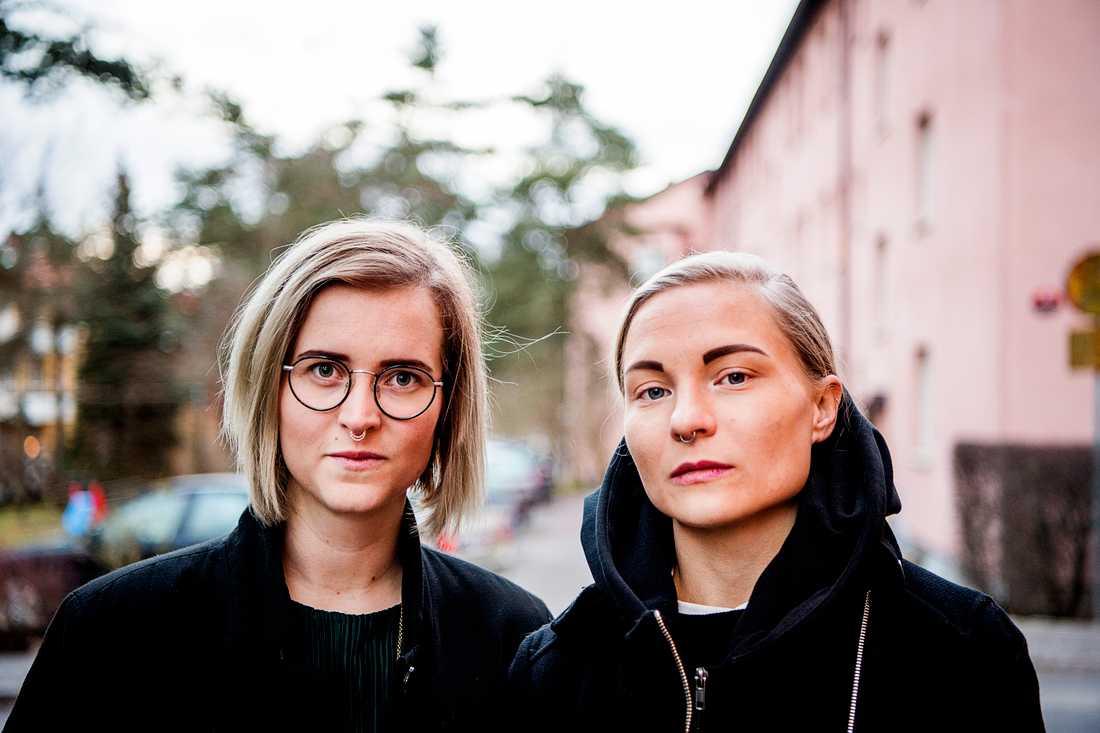Snickaren Emmelie Renlund och arkitekten Cajsa Winge startade uppropet för kvinnor inom byggbranschen.