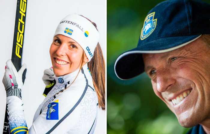 Världsstjärnorna Charlotte Kalla och Peder Fredricson äter gärna mer vegetariskt.
