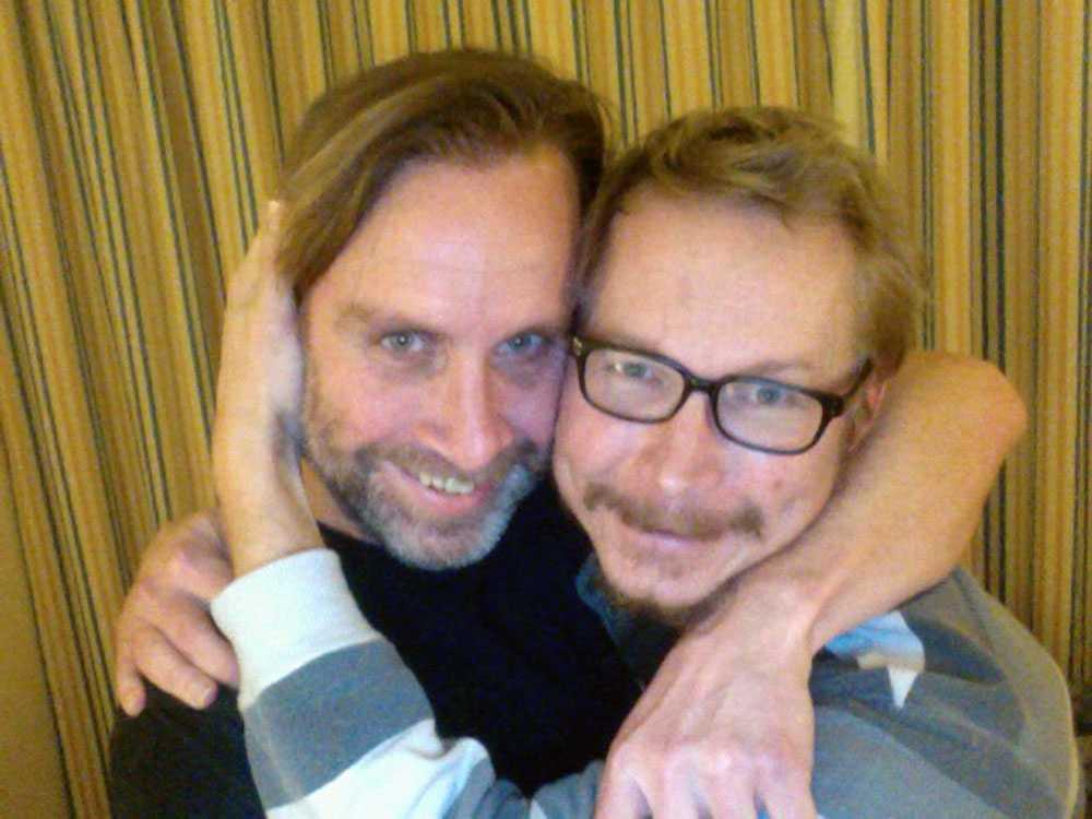 Niclas Hammarström och Magnus Falkehed återförenade efter att båda släppts från kidnapparna