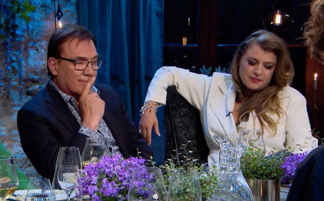 """Christer Sjögren och Linnea Henriksson i """"Så mycket bättre 2018."""