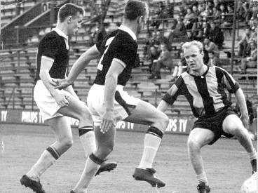 Nacka trollar med två AIK-spelare 1965.