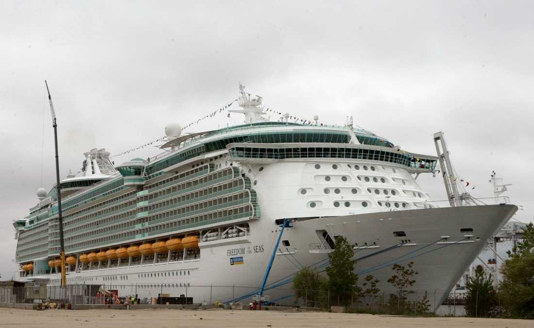 Bilden på fartyget är taget vid ett annat tillfälle.