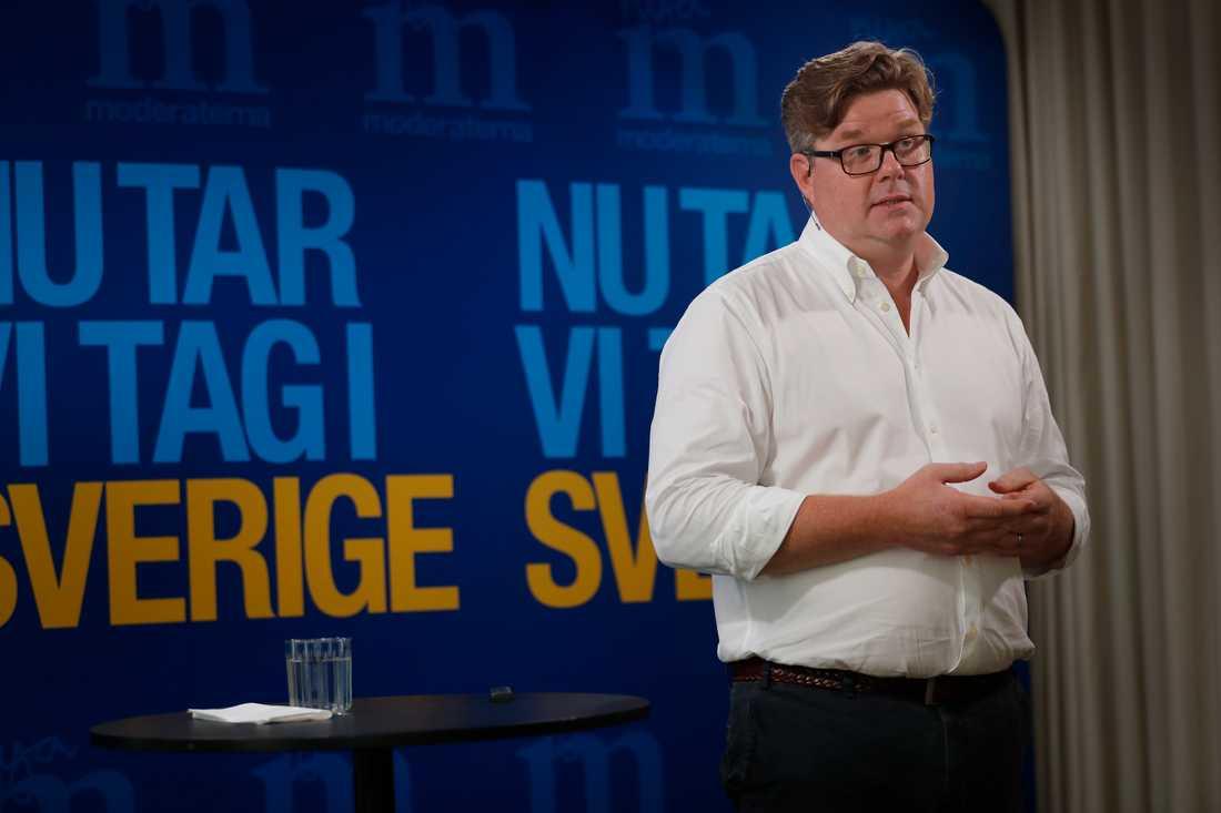 Gunnar Strömmer, Moderaternas partisekreterare.
