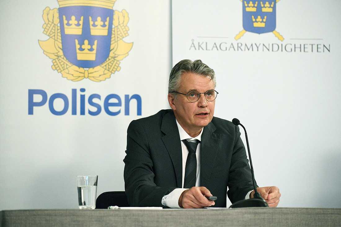 Spaningsledare Hans Melander.