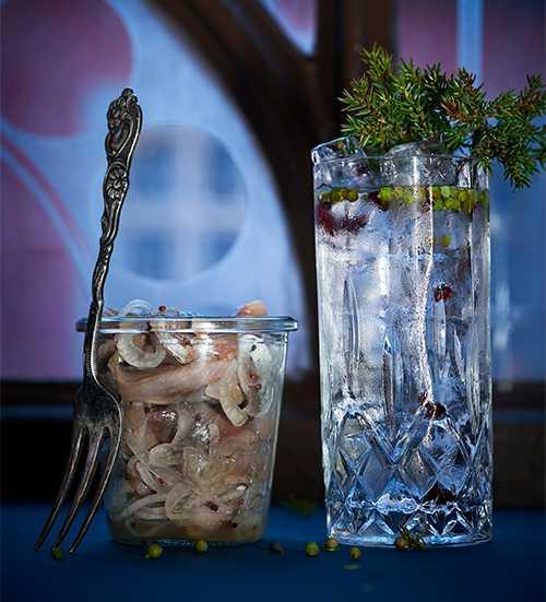Gin och tonic som juldrink.