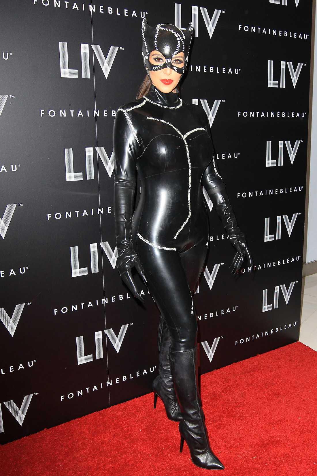 Kim Kardashian som catwoman.