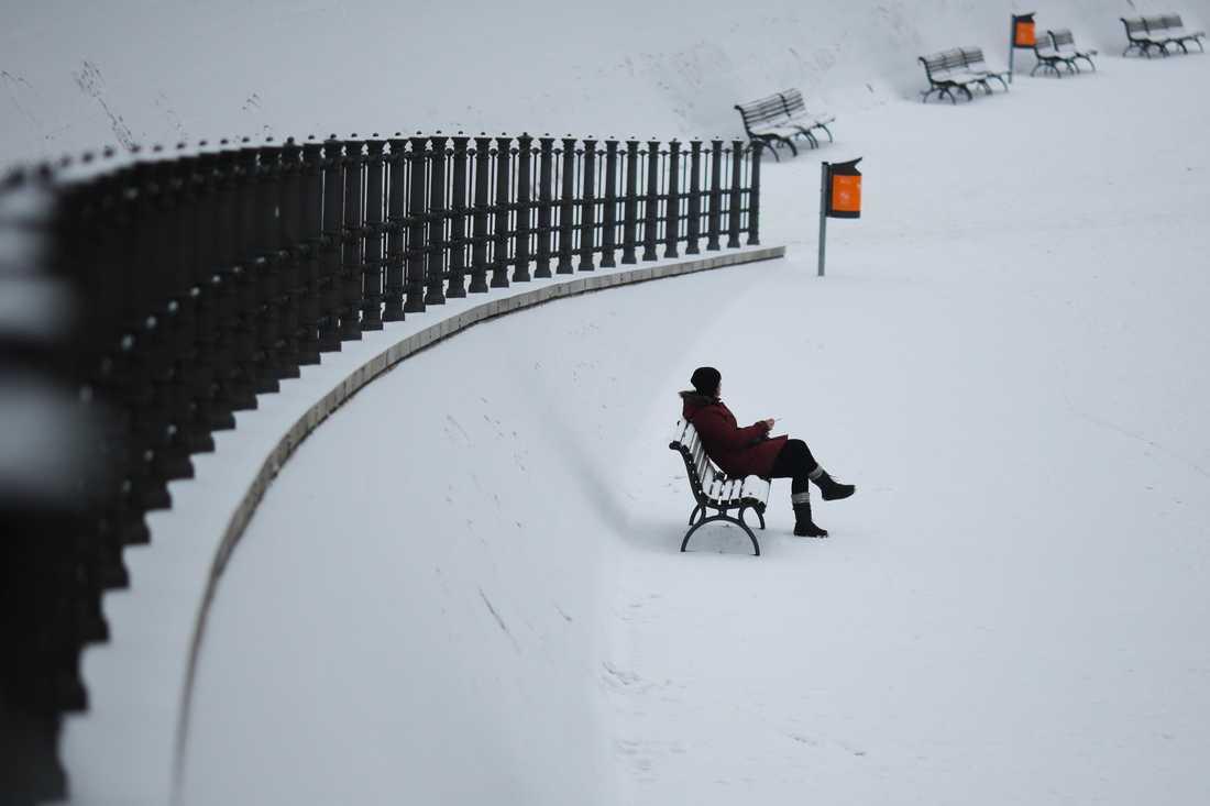 Snötäcke i Berlin.